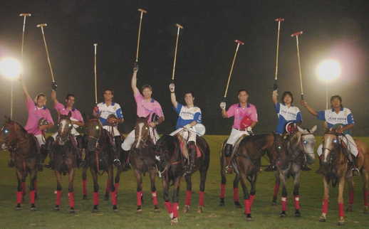 The first Night Polo match in Thailand.