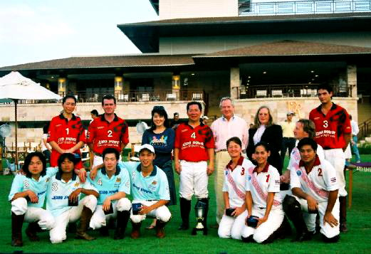 Khun Vichai with participants in the Constitution Cup.