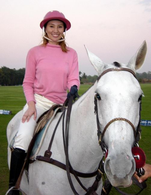 A new visitor at the polo club -- Khun Fay