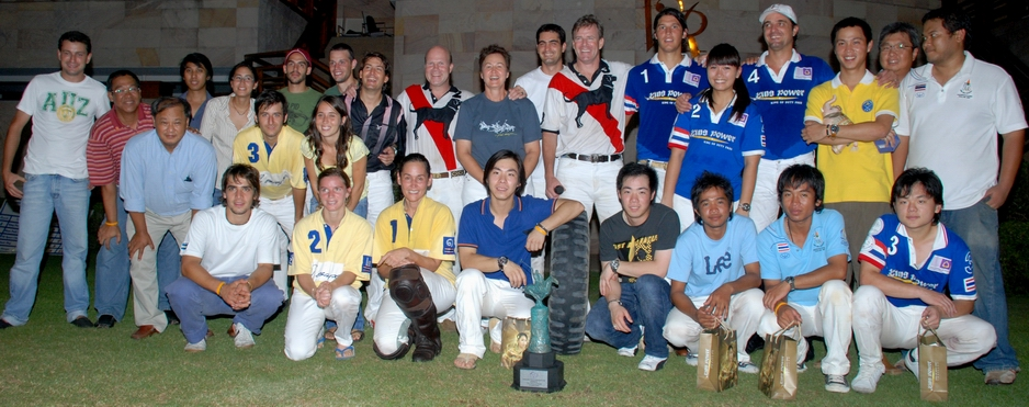 Members of the teams of Thai Polo League 2008.