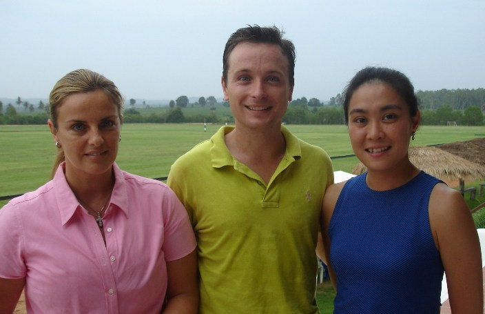Louisa, Mario and Nippy at Siam Polo Park for the HORMEGAS CUP 2008