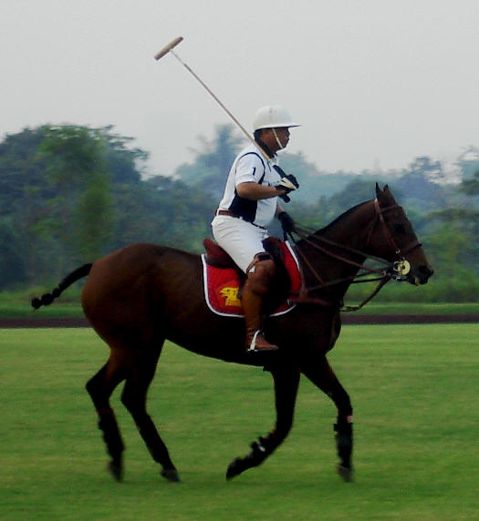 Prabowo on the field.