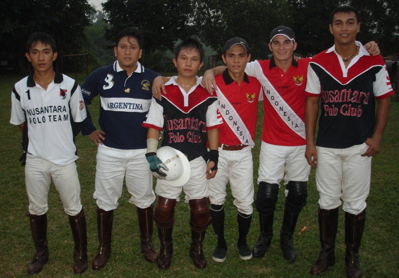 Indonesian polo players.
