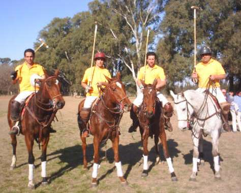 Paisano Polo Team today - Nicolas, Agustin, Juan, Canchi