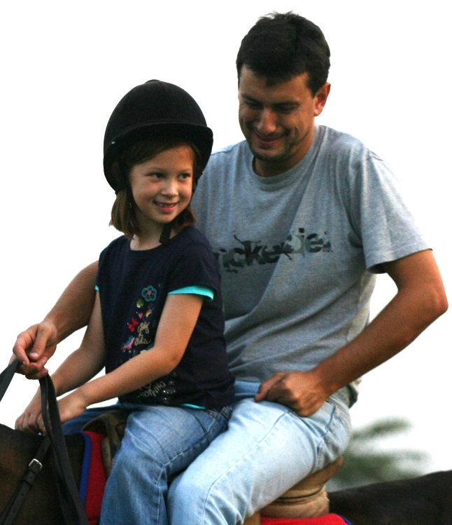 Facundo giving riding lessons to Jilly