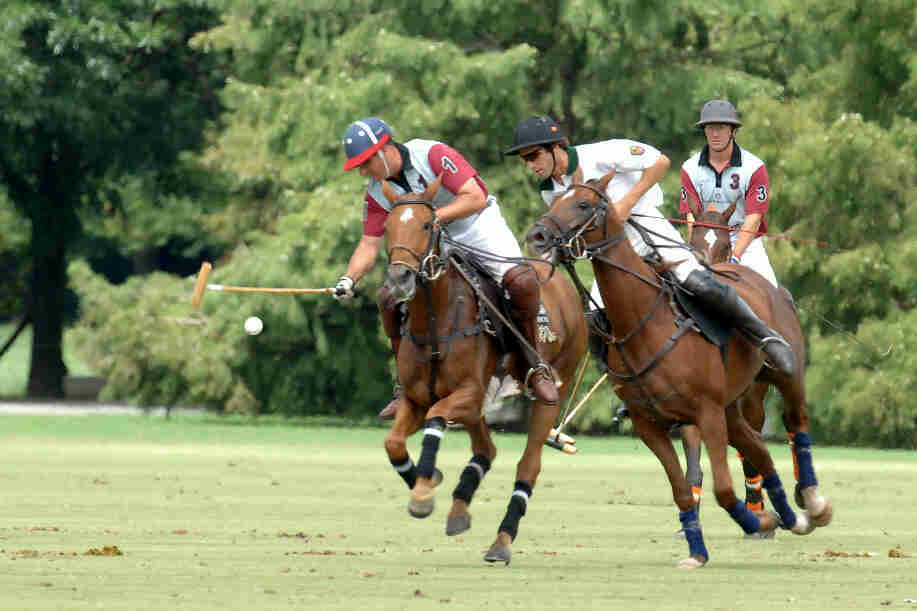 Henry Rourke playing Polo Leage with Agustine Merlos at Ellerstina in Argentina
