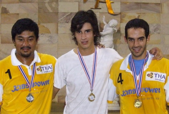 Most Improved Player (Khun Un) -- Mas Peligroso (Khun Santy) -- Mas Caballero (Khun Pepperoni) at the Gold Cup