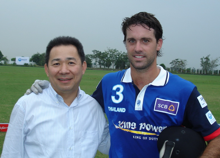 Khun Vichai with Facundo Pieres (10 goal player)