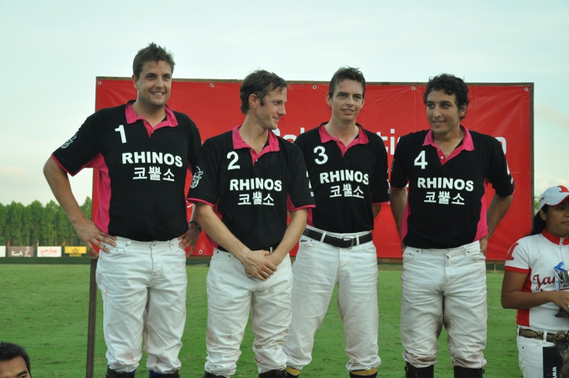 Stuart Wrigley and the Rhinos Polo Team